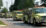 Fire Department in Strawberry Festival parade.