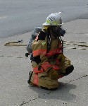 Beaver Dam Volunteer Fire Department member dressed in gear.